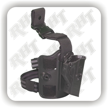 "Picture of CR Tactical ""SECURE3"" Duty Holster - Leg Platform"
